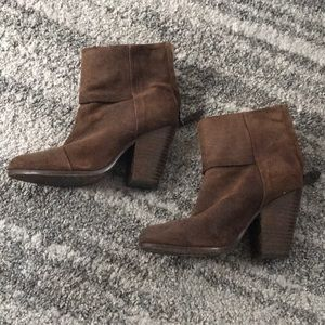 Rag and bone distressed brown booties